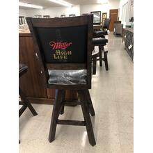 """See Details - Special Buy, $229.95 Miller High Life 30"""" Swivel Bar Stool with arms."""