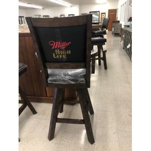 """Eci Furniture - Special Buy, $229.95 Miller High Life 30"""" Swivel Bar Stool with arms."""