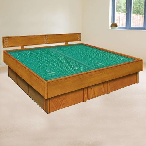 Oak 5-Board Waterbed Frame with La Jolla Casepieces Available in W King, W Queen and Super Single