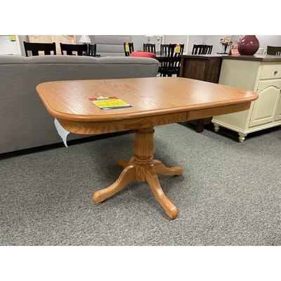 Single Pedestal Table 36x48-2 Leaves