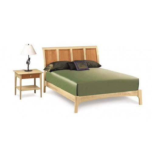 """SARAH SLEIGH 45"""" BED WITH LOW FOOTBOARD IN CHERRY/MAPLE"""