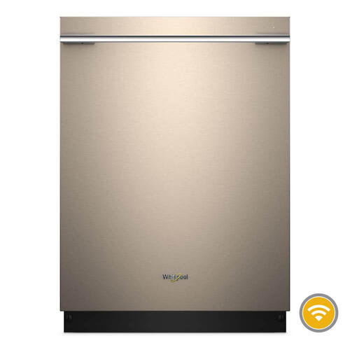Whirlpool 47dBA Sunset Bronze Top Control with Stainless Tub Dishwasher