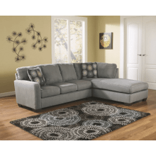 Zella - Charcoal - 2-Piece Sectional with Right Facing Chaise