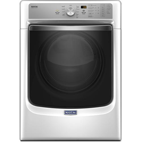 Maytag 7.4CF White Front Load Electric Dryer with Steam