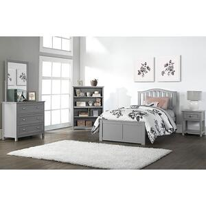 Twin Finley Arch Spindle Bed - Gray