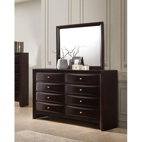 CrownMark Emily Dresser 8 Drawers Dark Cherry Brown, B4260