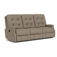 See Details - Devon Fabric Power Reclining Sofa w/ Tilt Headrest and Nailhead Trim - 296-01