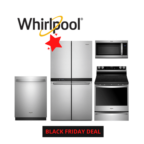 Black Friday Deal - Whirlpool 4 Piece Stainless Steel Kitchen Package