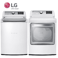 LG top load mega capacity laundry pair