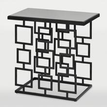 See Details - Mirror Top Black Patterned End Table