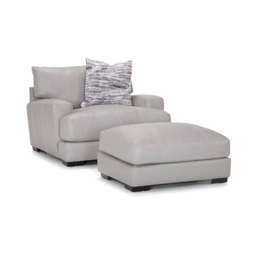 Antonia Chair and a Half in Light Gray Renevarr leather