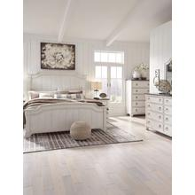 Nashbryn - Whitewash - 7 Pc. - Dresser, Mirror, Chest, Nightstand & King Panel Bed
