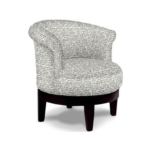 ATTICA Swivel Barrel Chair in Porcini Fabric