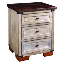 See Details - Farmhouse Heritage 3 Drawer Nightstand