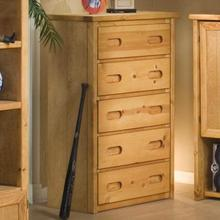 Bunkhouse 5 Drawer Chest - Amber Wash