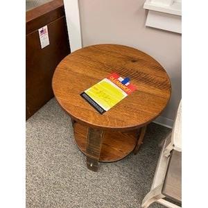 Amish Craftsman - whiskey barrel end table