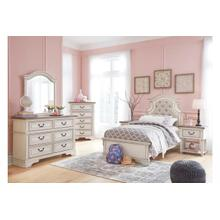 View Product - Realyn Chipped White Twin Bedroom Set