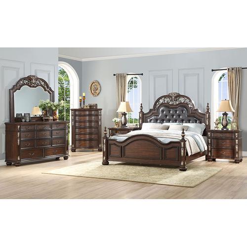 New Classic Furniture - NEW CLASSIC B1754-040 Maximus Madeira Night Stand