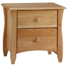 See Details - Clove 2 Drawer Night Stand Natural Finish