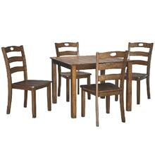 5 Piece Square Dining Room Set