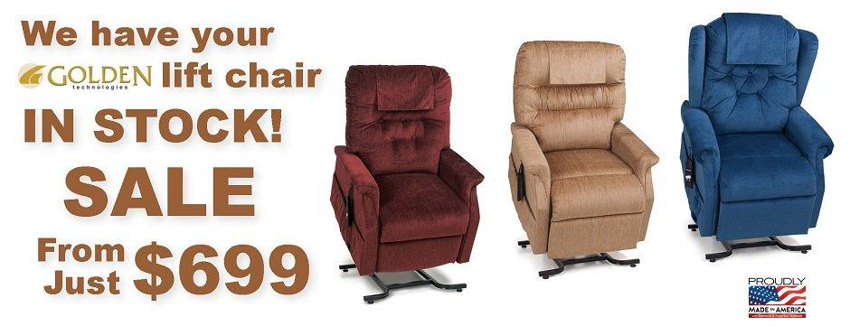 Golden Technologies Lift Chairs In Stock!