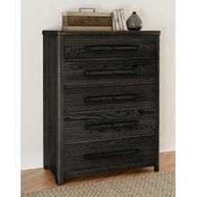 A&P Latitudes 5-Drawer Chest in Ebony Finish