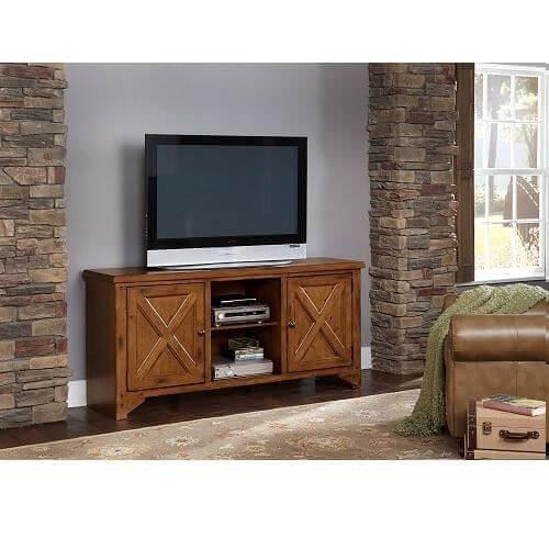 "64"" Rustic Pine TV Console"