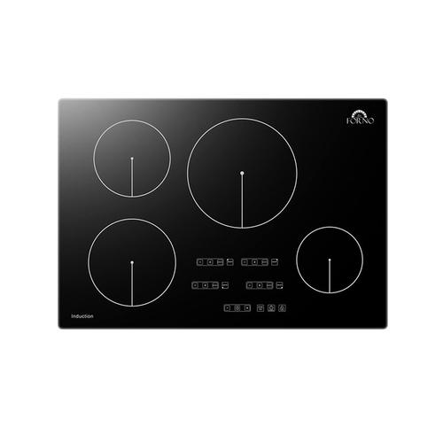"Forno 30"" Black Induction Cooktop with 7 Pan Set"