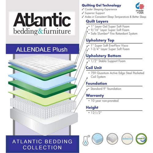 Atlantic Bedding and Furniture - Atlantic Bedding Collection - Allendale - Plush