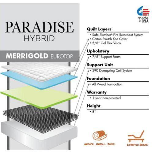 Paradise Hybrid Collection - Merrigold - Firm - Euro Top