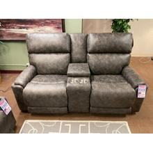 823 Power reclining loveseat with console and power headrest and lumbar