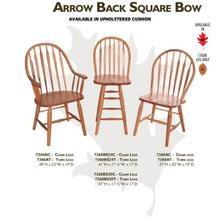 Arrow Back Square Bow Chair