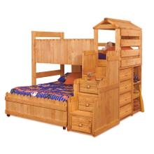 The Fort Twin/Full Bunk Bed with Mattresses