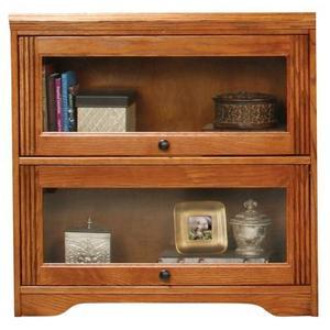 """Oak 2-Door 32"""" Lawyer Bookcase"""