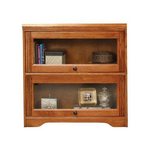 "American Heartland Manufacturing - Oak 2-Door 32"" Lawyer Bookcase"