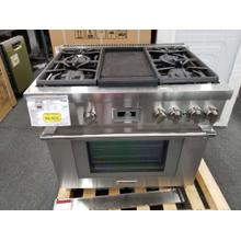 """See Details - Thermador Pro Harmony Professional 36"""" Gas Range PRG364WDH (FLOOR MODEL)"""