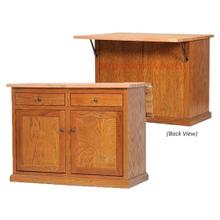 Oak Kitchen Island with Choice of Flip-Up Top