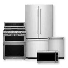 "KITCHENAID 20 Cu. Ft. Counter-Depth French Door Refrigerator & 30"" 5 Burner Gas Double Oven Convection Range Package"