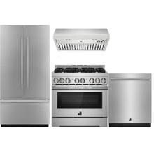 "JENNAIR 36"" Built In Fridge and 36"" Gas Range"