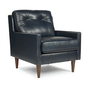 Best Home Furnishings - Navy Leather Chair