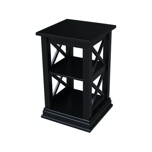 Hampton Accent Table in Solid Black
