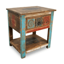 Bombay Carved Nightstand