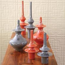 Minaret Vase-Grey-Med