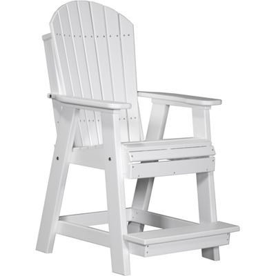 Adirondack Balcony Chair White