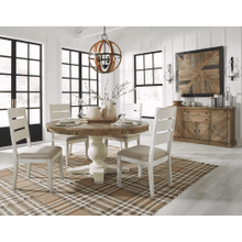 Grindleburg - Light Brown - 5 Pc. - Round Table & 4 Upholstered Side Chairs