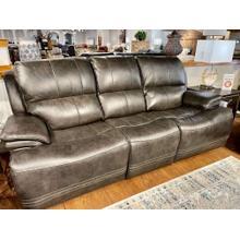 See Details - Juno Flint Leather Full Power Sofa
