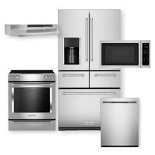 "Stainless Steel 25.8 Cu. Ft. 36"" Multi-Door Freestanding Refrigerator with Platinum Interior Design 5-Piece Package-Open Box"