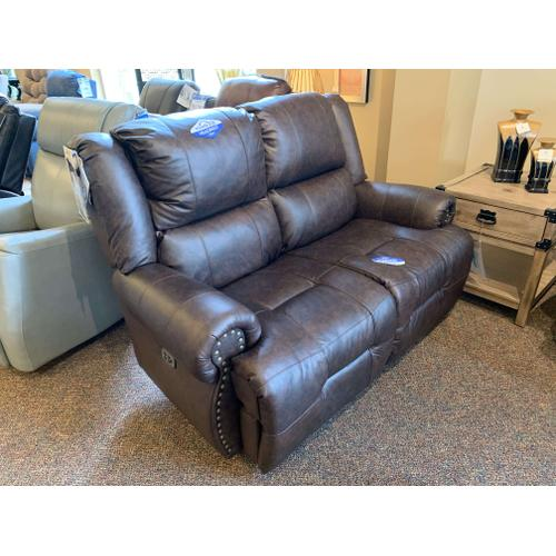 Texas Leather Power Reclining Loveseat - Space Saver