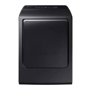 Samsung - Samsung DVE52M8650V Multi-Steam Dryer in Black Stainless Steel