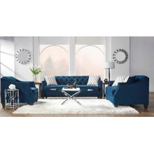 HUGHES FURNITURE 16150SLSC Bing Indigo Tufted Sofa, Loveseat & Chair Group
